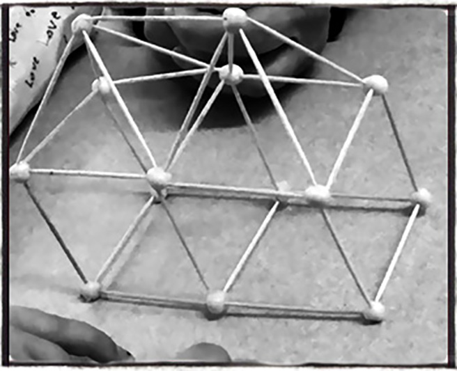 Geometrisk figur i tre dimensioner.