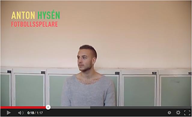 Anton Hysen, fotbollsspelare, i en video från För det vidare.