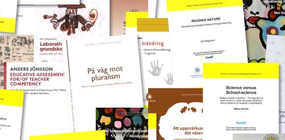 Omslag på publikationer från FontD.