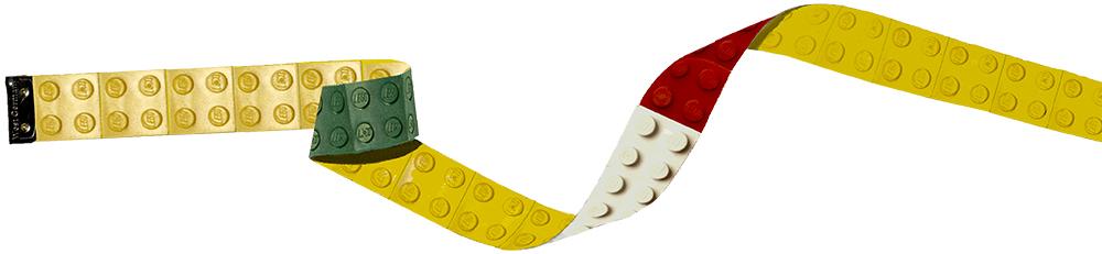 Legobitar som mätband.