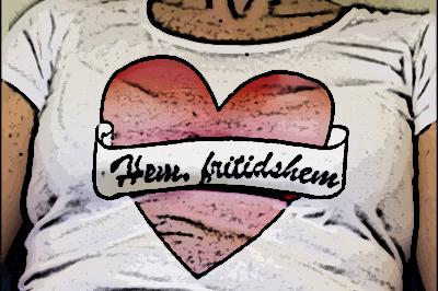 T-shirt med hjärta och texten Hem fritidshem.